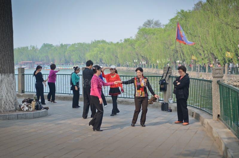 Парк Beihai, Пекин стоковые изображения rf