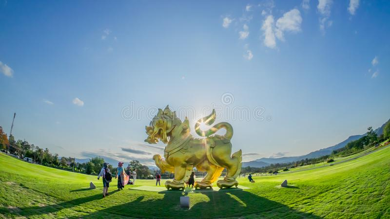 Парк Chiang Rai Singha стоковое фото rf