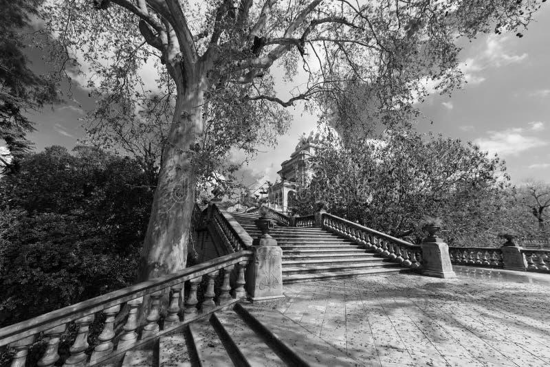 Парк Ciutadella в Барселоне стоковая фотография rf