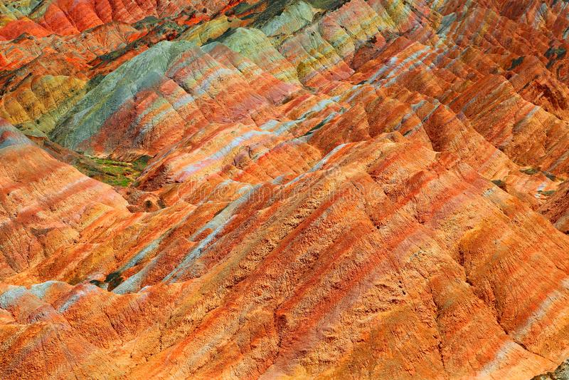Парк Danxia геологохимический, провинция Zhangye, Ганьсу, Китай стоковая фотография rf