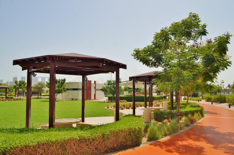 Парк Delma в Абу-Даби стоковое изображение rf