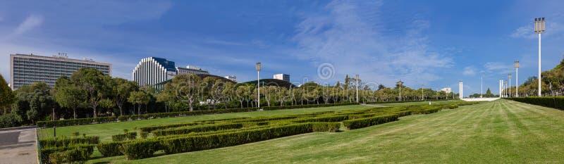 Парк Eduardo VII в Лиссабоне, Португалии стоковое фото
