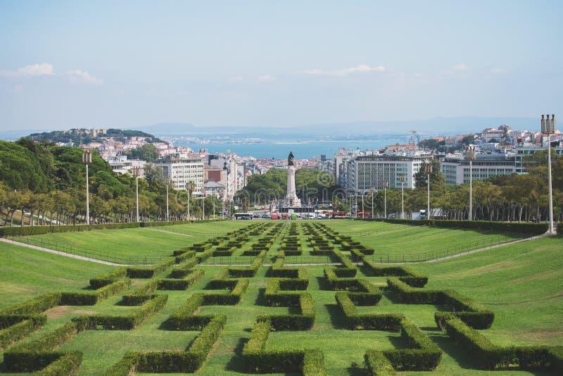 Парк Eduardo VII стоковое изображение rf