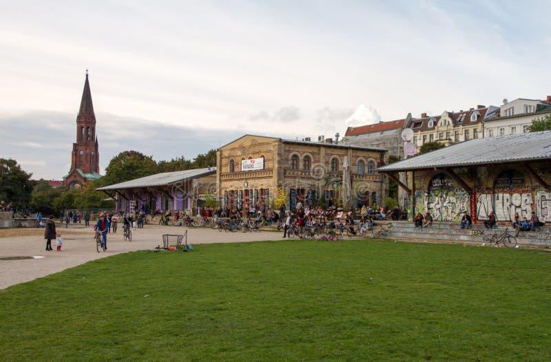 Парк Gorlitzer, Берлин, Германия стоковые фото