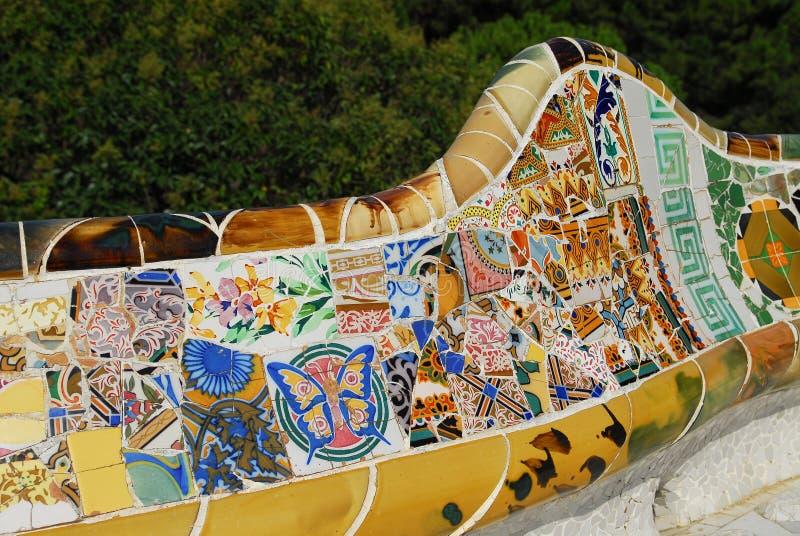 ПАРК GUEL в Барселоне стоковая фотография