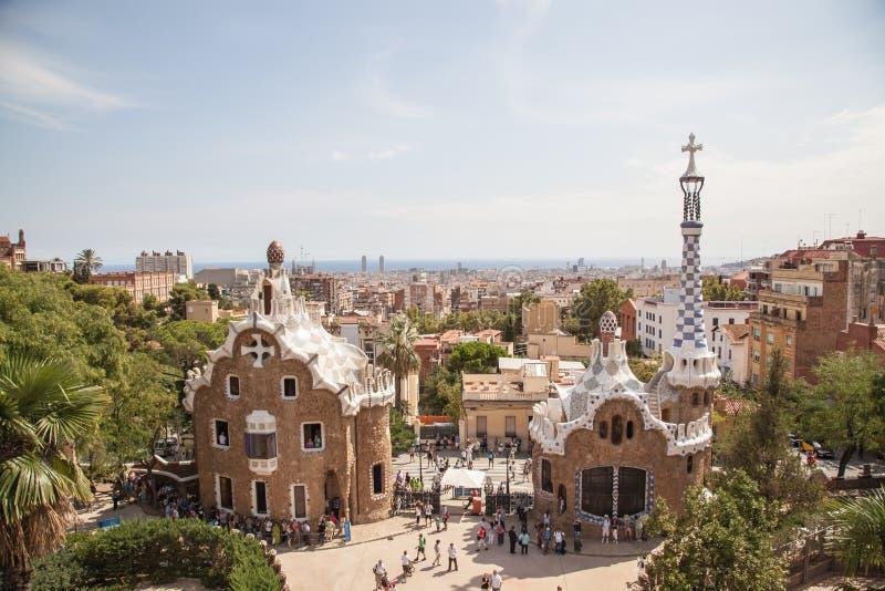 Парк Guell Барселона стоковые фотографии rf