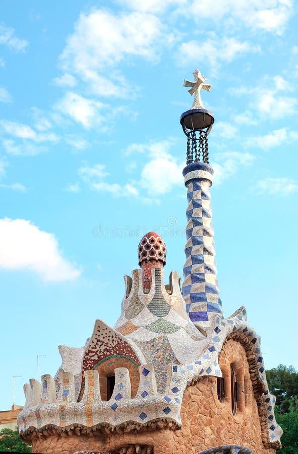 Парк Guell в Барселоне, Каталонии, Испании стоковое фото