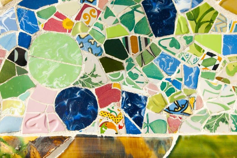 Парк Guell кроет - Барселона - Испания черепицей стоковые фото