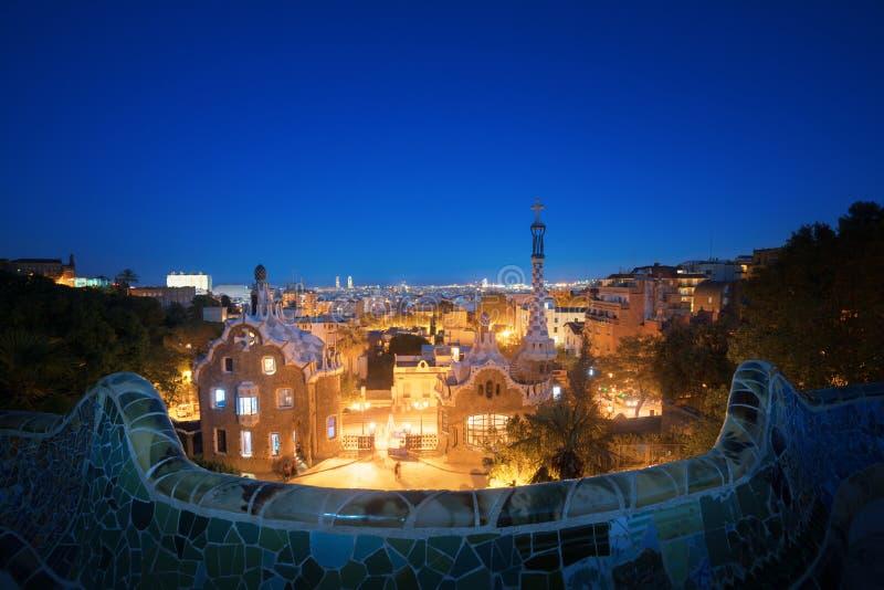 парк guell barcelona стоковые фотографии rf