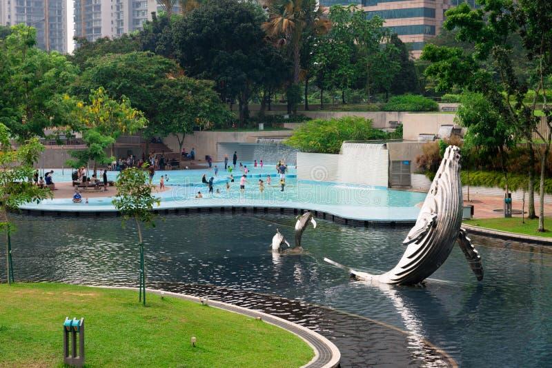 Парк KLCC в Куалае-Лумпур, Малайзии стоковая фотография rf