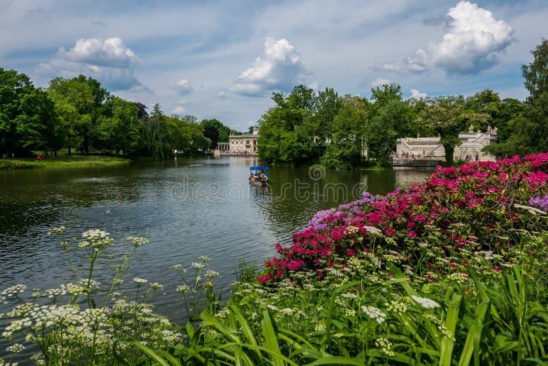 Парк Lazienki, Варшава, Польша стоковые фотографии rf