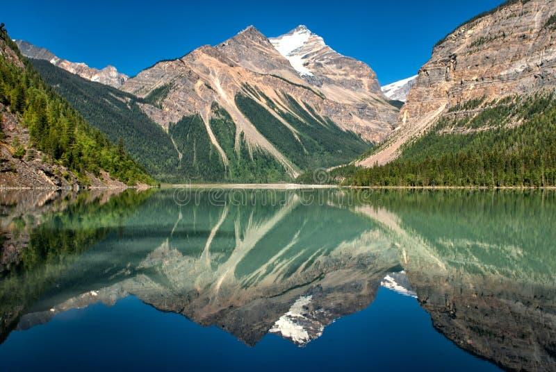 Парк Mt Robson озера Kinney захолустный стоковые фотографии rf