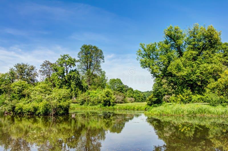 Парк Muskau в верхнем Lusatia стоковые фотографии rf