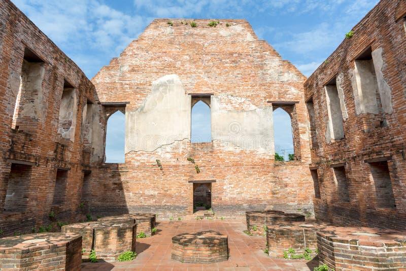Парк n Ayutthaya древнего города исторический стоковые фотографии rf