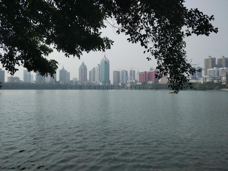 Парк Nanning Nanhu стоковая фотография rf