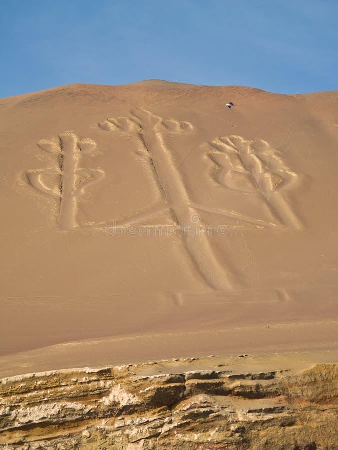парк paracas канделябра национальный стоковые изображения rf
