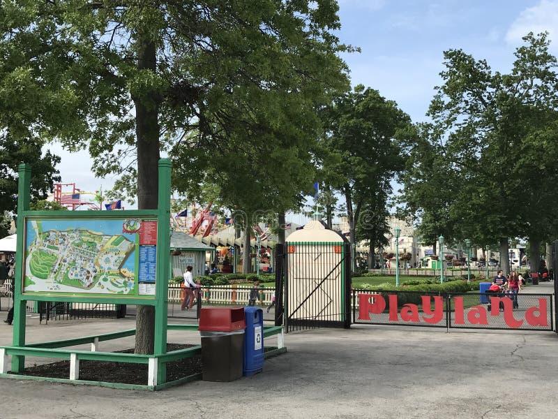 Парк Playland в Rye, Нью-Йорке стоковое изображение