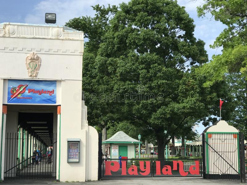 Парк Playland в Rye, Нью-Йорке стоковое фото