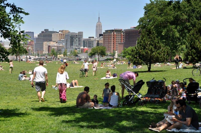 парк s nyc лужка города батареи северный стоковые изображения rf