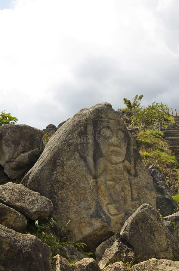 парк san agustin археологический стоковая фотография rf