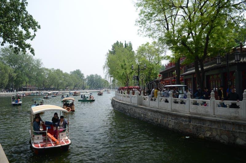 Парк Shichahai в Пекине стоковые изображения rf