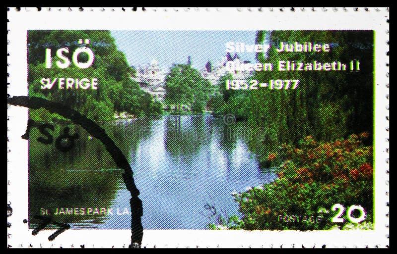 Парк St James, serie, около 1977 стоковые фото