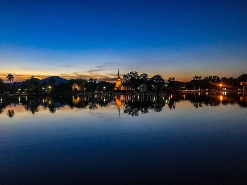 Парк Sukhothai исторический в Sukhothai стоковая фотография rf
