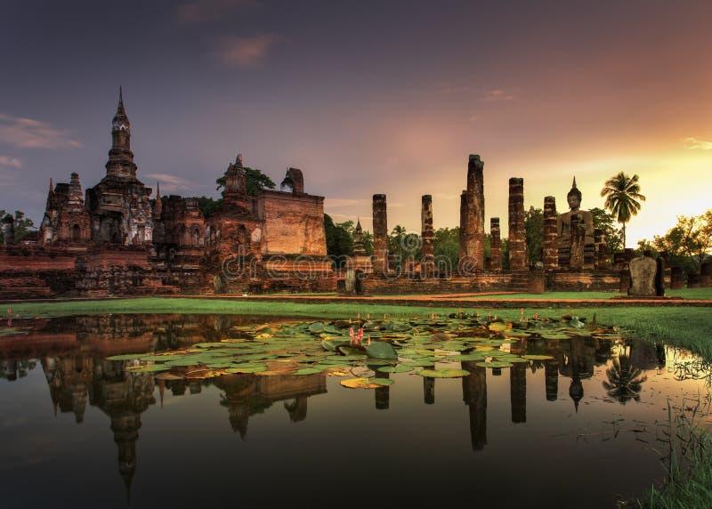 Парк Sukhothai исторический стоковое изображение