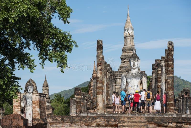Парк Sukothai исторический, всемирное наследие ЮНЕСКО Висок Rop Chang, Таиланд стоковые изображения