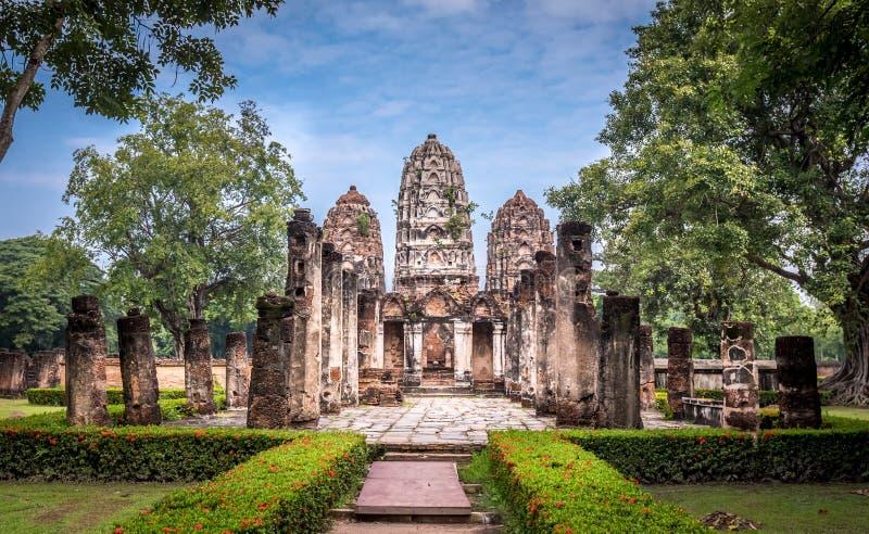 Парк Sukothai исторический, всемирное наследие ЮНЕСКО стоковое фото