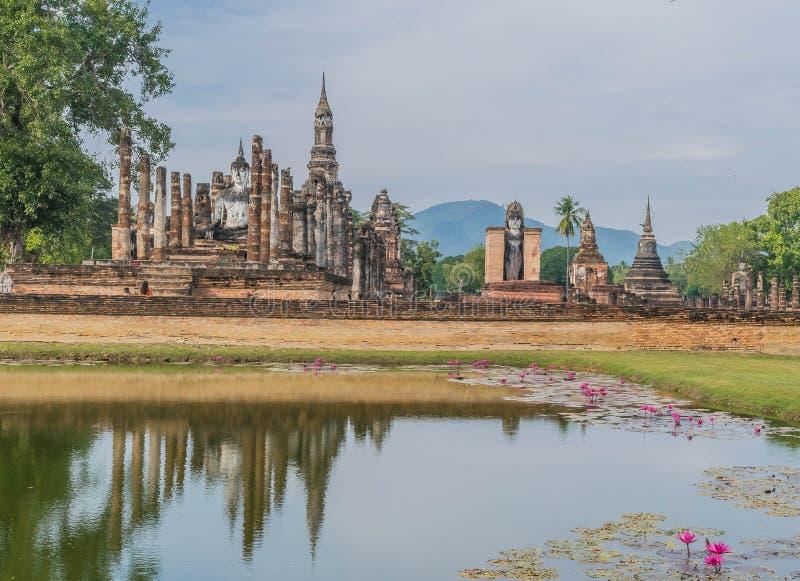Парк Sukothai исторический использовал для того чтобы быть столицей Таиланда стоковое изображение rf