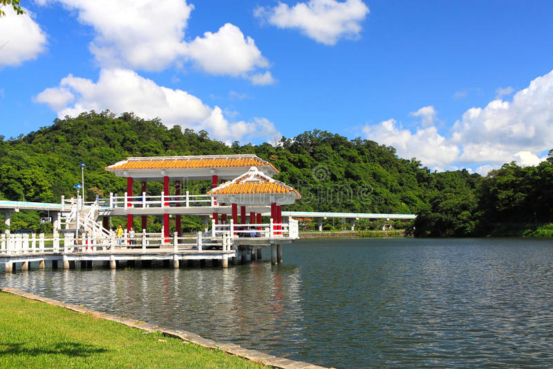 парк taipei dahu стоковое изображение rf