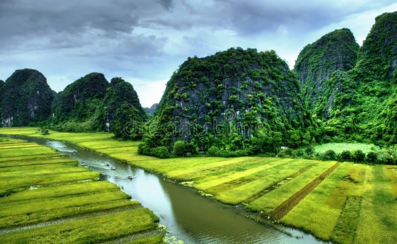 Парк Tam Coc Natioanl стоковое изображение