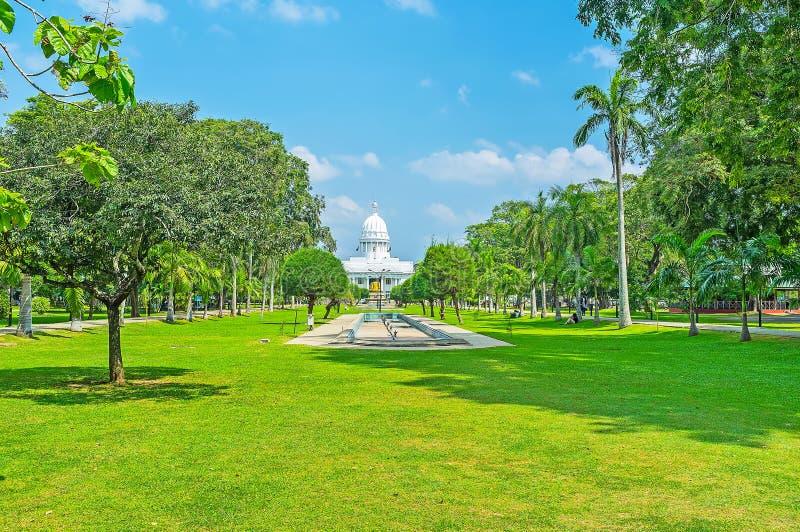 Парк Viharamahadevi Коломбо стоковая фотография rf