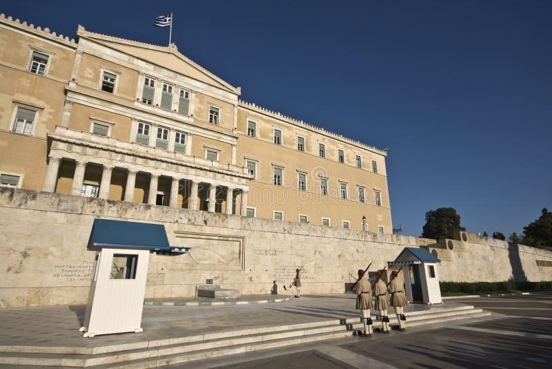 парламент грека города athens стоковая фотография rf