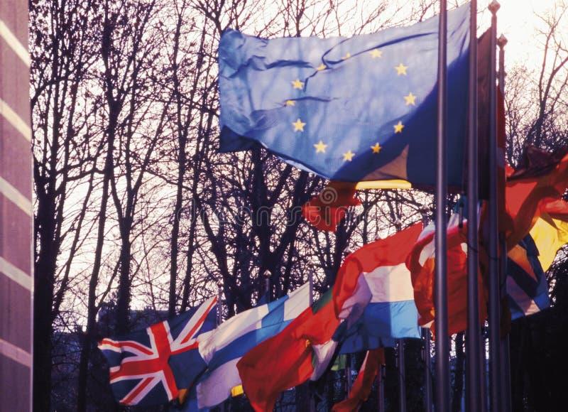 парламент европы eu здания Бельгии brussels стоковая фотография