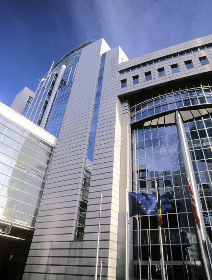 парламент европы eu здания Бельгии brussels стоковая фотография rf