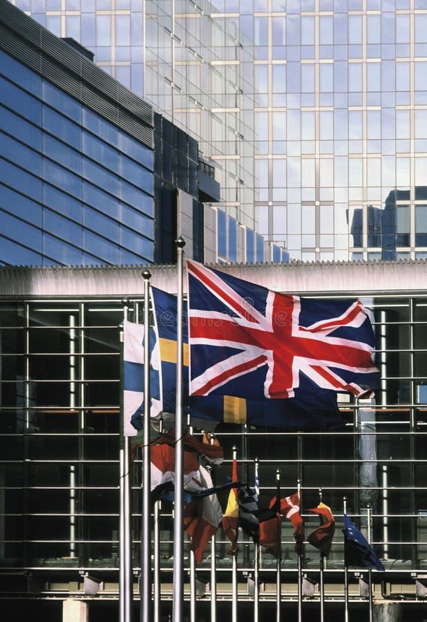 парламент европы eu здания Бельгии brussels стоковое изображение rf