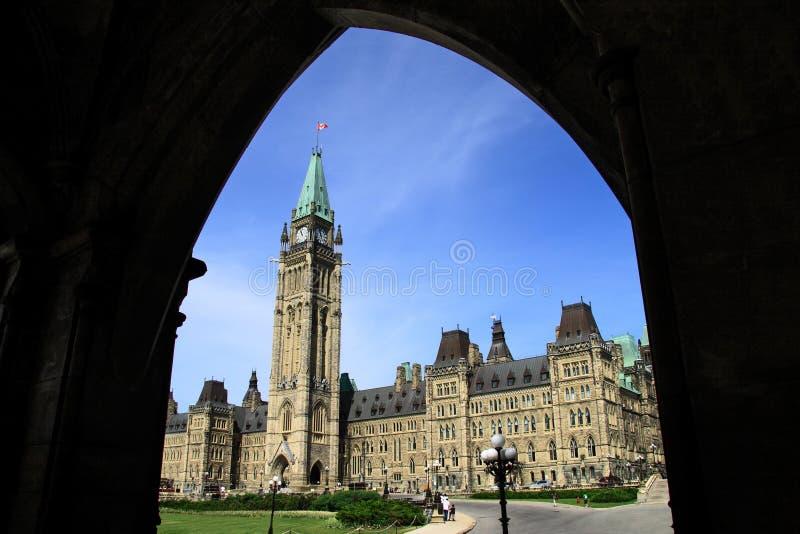 парламент Канады здания исторический стоковые изображения rf