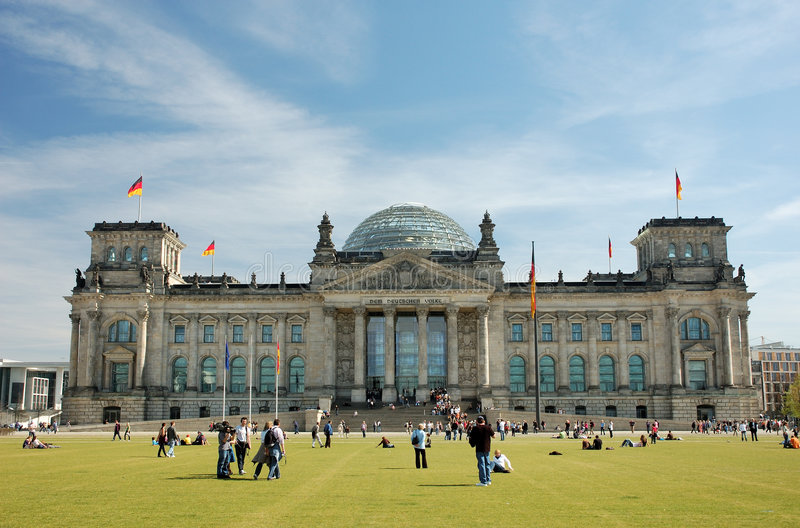 парламент немца berlin стоковое изображение rf