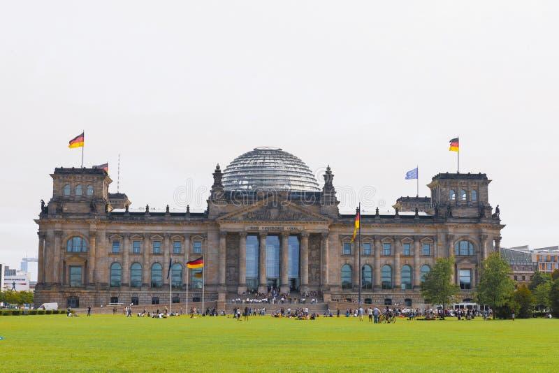 парламент berlin bundestag немецкий Германии стоковое изображение