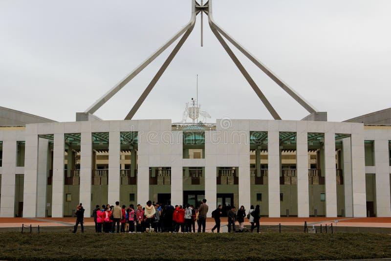 парламент canberra стоковые фото