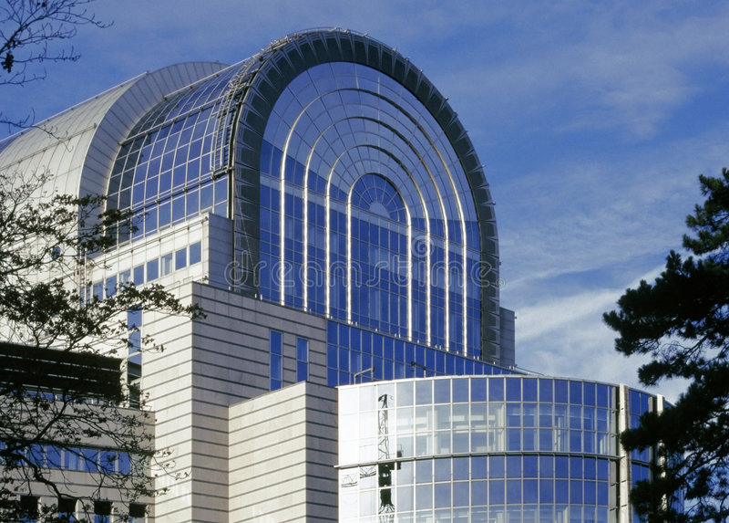 парламент eu здания brussel стоковые фото