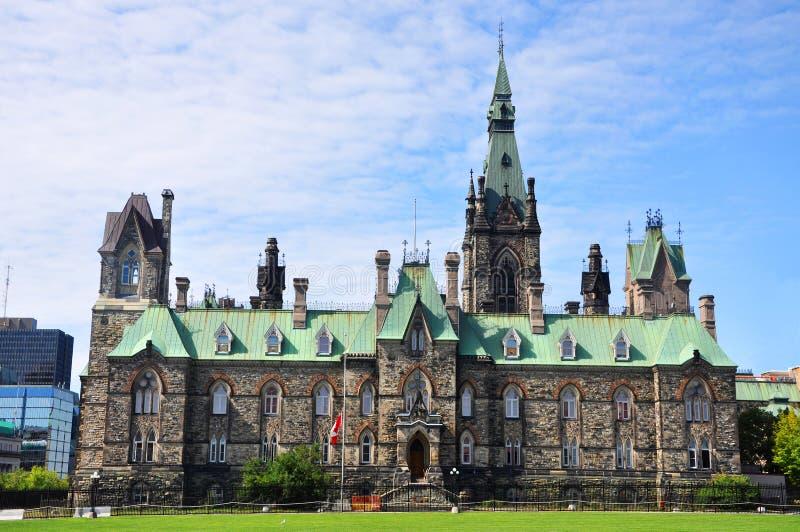 парламент ottawa зданий блока западный стоковые изображения rf