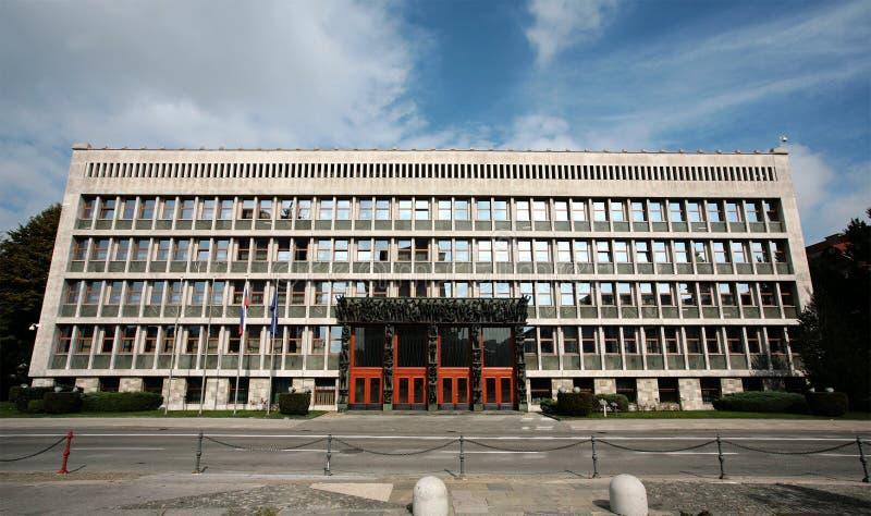 парламент slovene ljubljana стоковая фотография rf