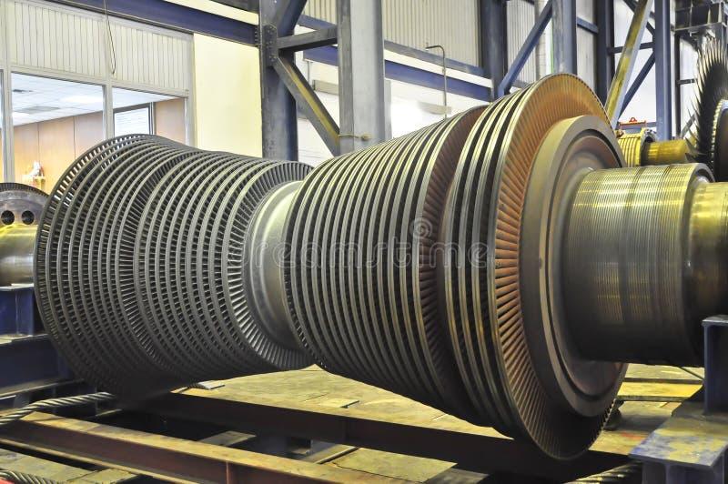 Паровая турбина электрической станции тепловой мощности угля стоковое фото
