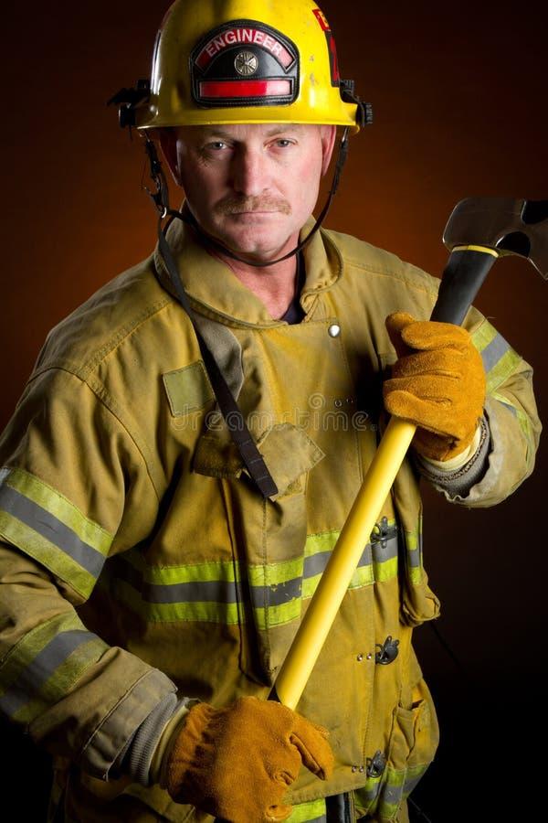 паровозный машинист пожарного стоковые фото