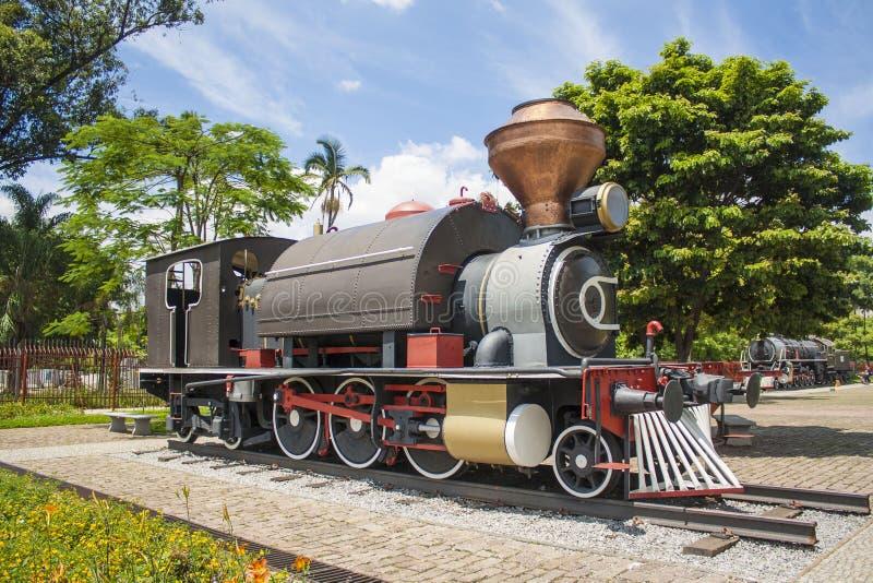 Паровоз - музей Catavento - São Paulo, Бразилия стоковые изображения