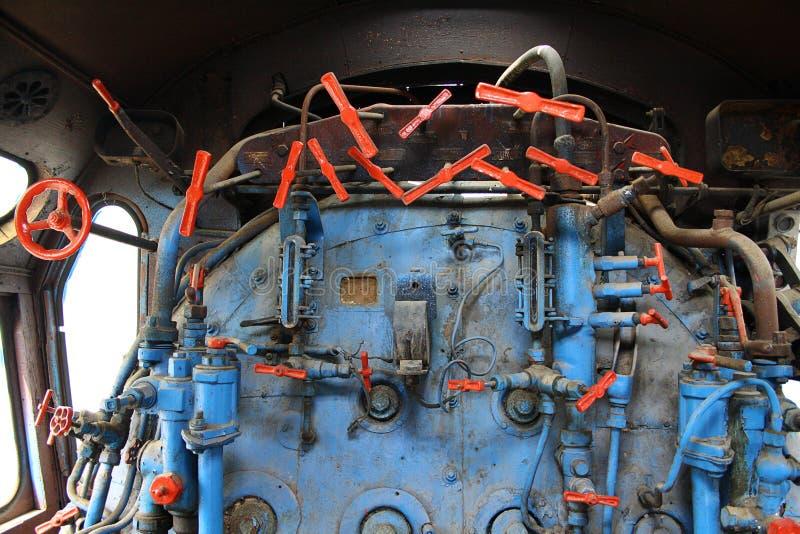 Паровой двигатель в локомотиве стоковая фотография