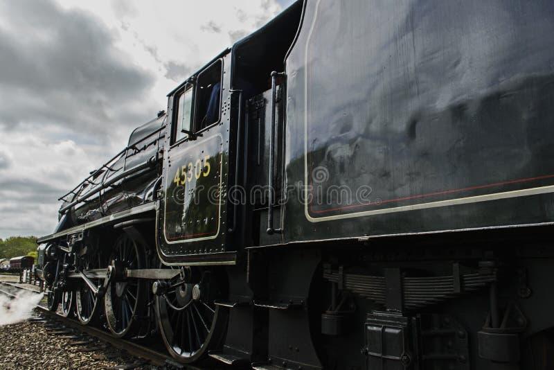 Паровой двигатель, взгляд со стороны стоковая фотография